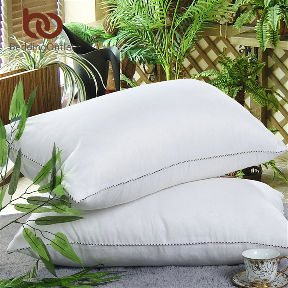 Beddingoutlet down alternative filling pillow feather for Bedding fabric bedding