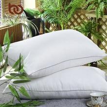 BeddingOutlet Down Alternative Filling Pillow feather velvet Bedding Pillow Fabric Cotton Washable Soft Warm Neck Heath 48x74cm