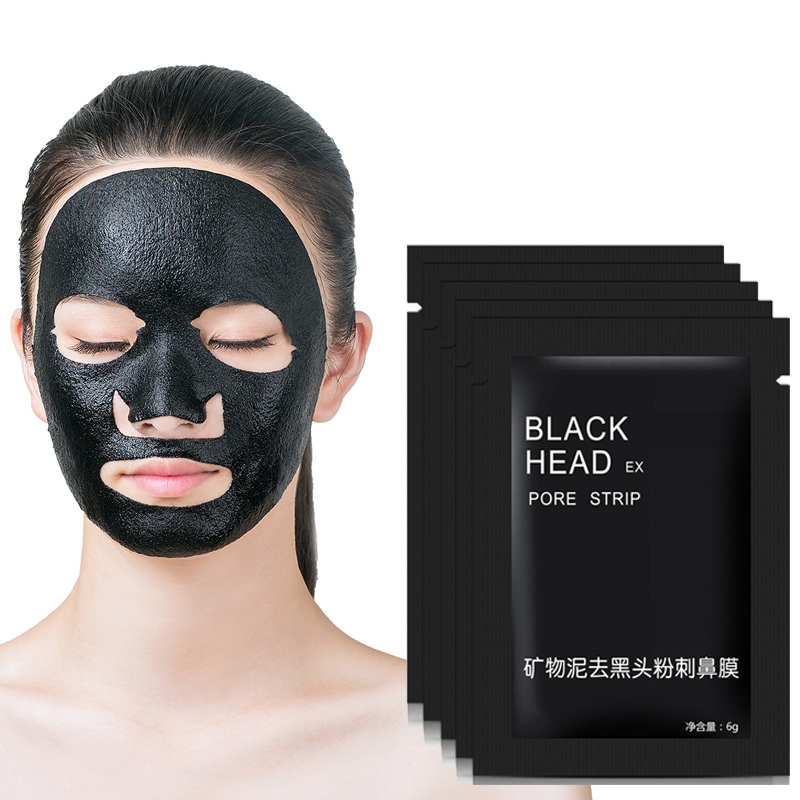 10pcs/lot Facial Minerals Mud Membranes Clay Black Mask Strips Cleaner Nose Pore Blackhead Acne Remover Mask Face Care