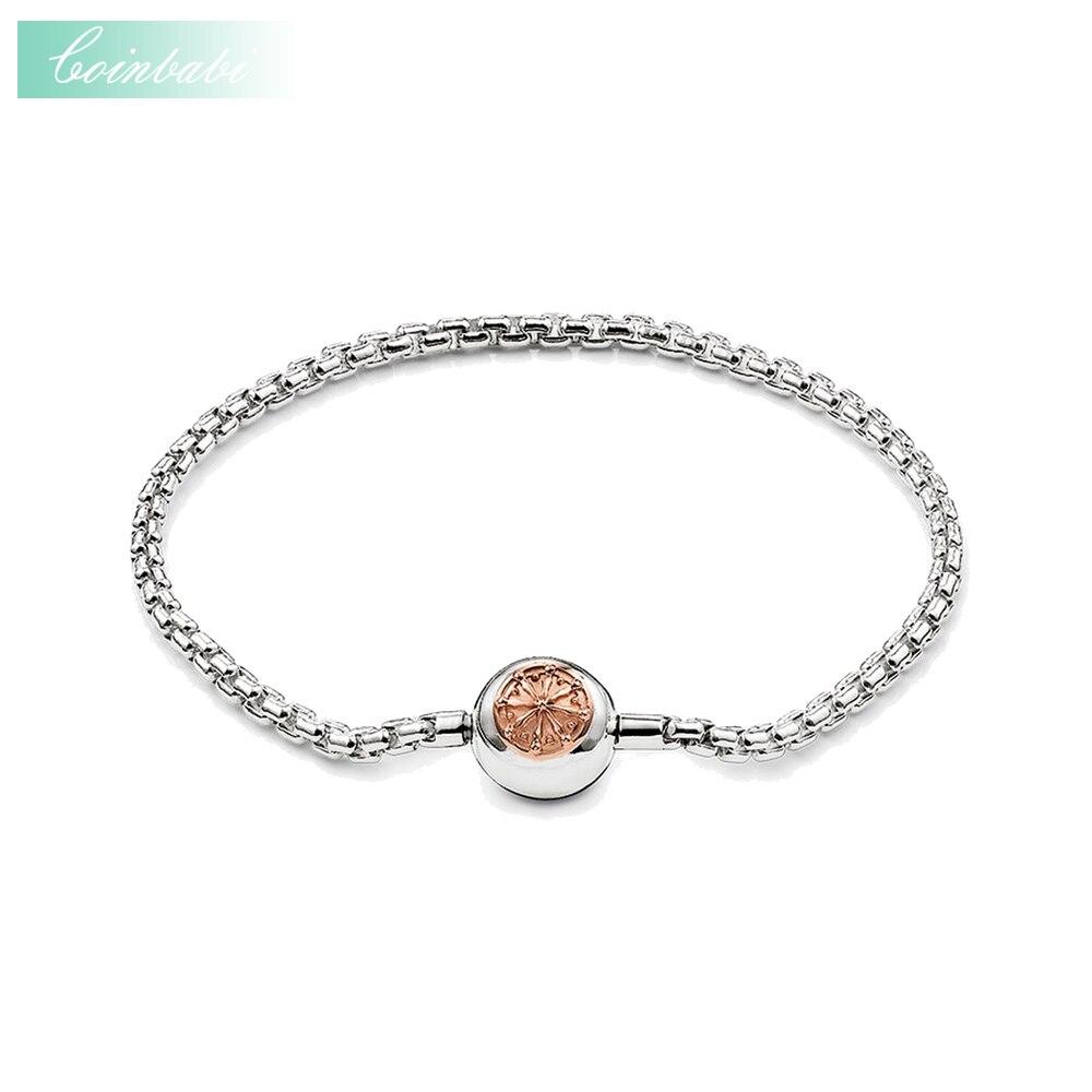 Prix pour Bracelets Or Rose Lien Chaîne 925 En Argent Sterling De Mode Bijoux pour Femmes Hommes Ts Trendy Cadeau Thomas Style Karma Diy Bracelet