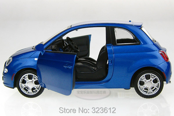 Free Shipping 1 32 Fiat 500 Alloy Diecast Vehicle Car Model Toy