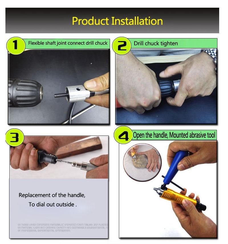 Fresa elettrica per trapano per rettifica speciale Tubo flessibile - Attrezzature per la lavorazione del legno - Fotografia 6
