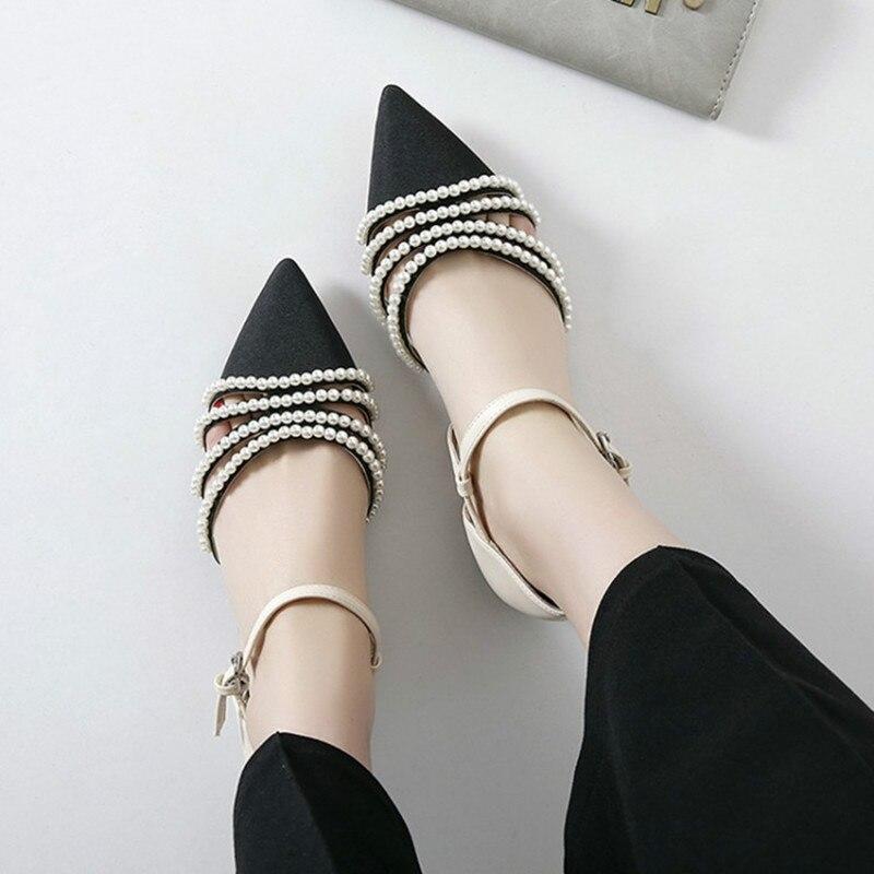 Picture Zapatos Sandalias Cuentas Mujer Lujo Del Puntiagudo Tacón Dedo Perlas Correa Stripper Tobillo Pie Chinelo Bajo Verano De As Cadena x4qHwFS