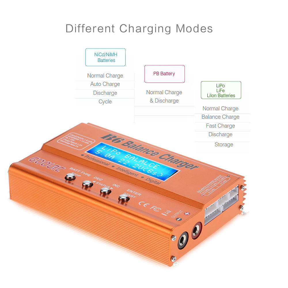 GoolRC B6 Mini Multi-functional Balance Charger Discharger for LiPo Battery Lilon LiFe NiCd NiMh Pb RC Battery RC Car Parts Dron (18)