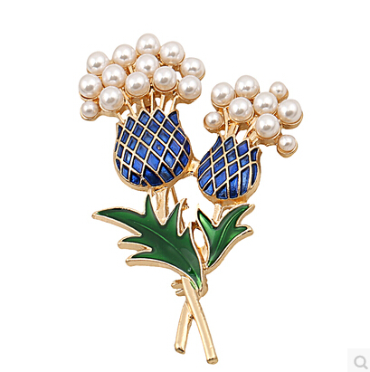 Free Wings 2016 Crystal Brooch Pineapple Rhinestone Trees Pearls Brooches Pin Women Jewelry ABC