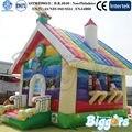 ENVÍO LIBRE por el mar Rainbow Gorila Inflable Casa de La Despedida Inflable Maravilloso Castillo Para Los Niños