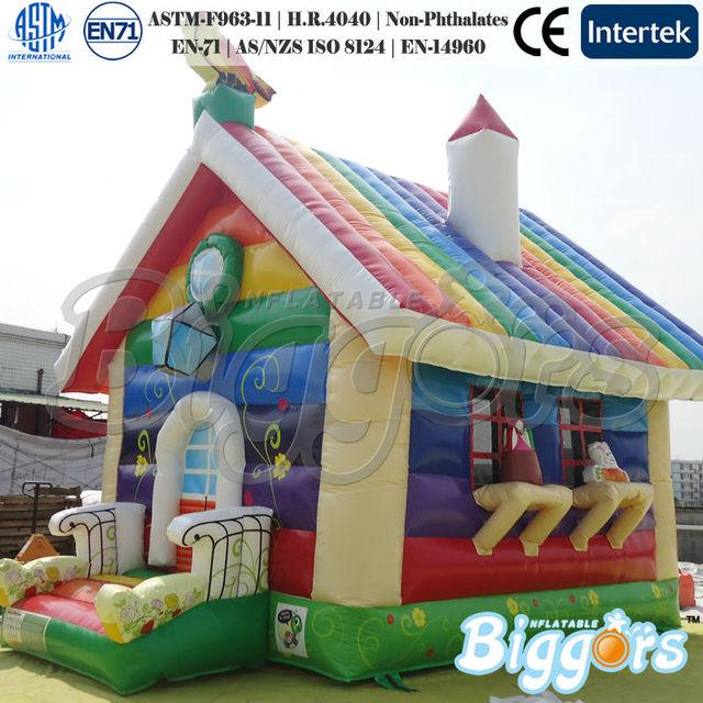 FRETE grátis por mar Inflável Casa do Salto Bouncer Rainbow Maravilhoso Castelo Inflável Para As Crianças