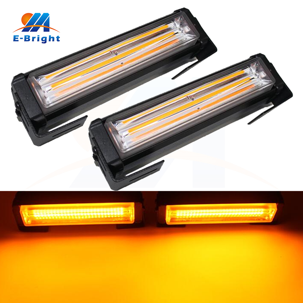 2x18Watt 480LM/pcs COB Led Amber Flash 6 Mode Daytime Running Light Constant DRL 12V 24V Waterproof Warming Light Free Shipping 1pc 100w canbus bau15s py21w error free 1156py amber yellow 20 led 3030smd 7507 ac12v 24v