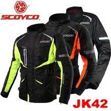 2016 New Scoyco motorcycle racing suits jersey clothing drop resistance protective waterproof jacket men warm cold winter JK42