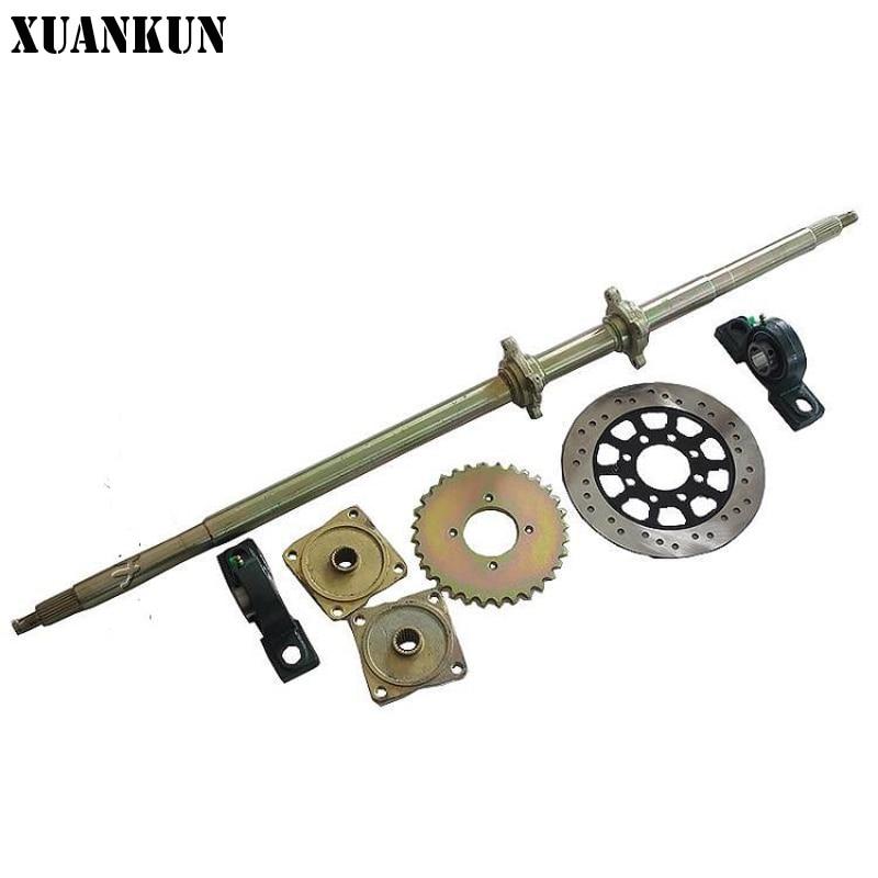 4 Wheeler Rear Axle : Xuankun self made four wheel karting accessories rear axle