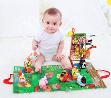 Kids Baby Soft Activity Unfolding Cloth Animal Tails Books Infant Early Educational Toys for Children 0-12 Month Gift DS29