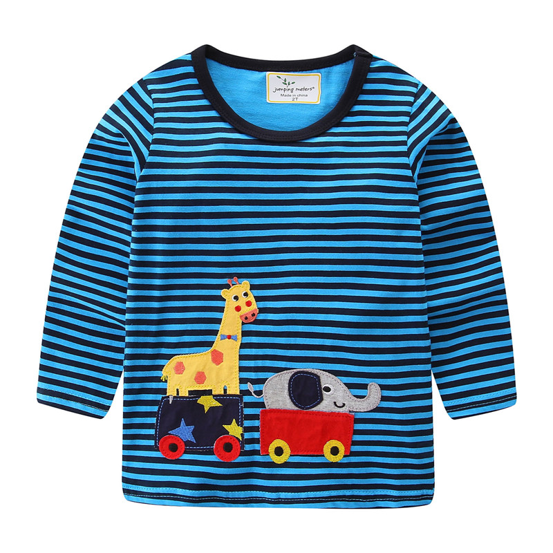 Boys' Clothing Jumping Meters Autumn Spring Boys Clothing Sets Applique Children Clothes Long Sleeve Knitted Stripes Kids Boys Suits Animal Set A Great Variety Of Models Clothing Sets