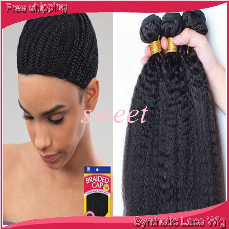 Crochet Hair Cap : crochet braid hair Cornrows Caps 1Pc Cap For Making cap With ...