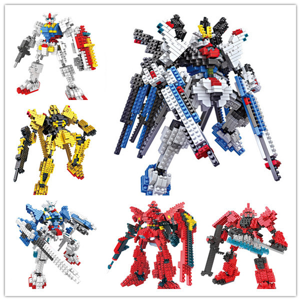 2014 Genuine LOZ Diamond Blocks GUNDAM Assembled Model DIY Children Toys Educational Gift Series - Sam Witwicky Store store