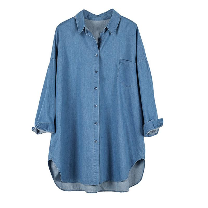2018 Autumn Long Sleeve Maternity Denim Shirt Korean Version Fashion Pregnancy Casual Loose Large Size Shirt