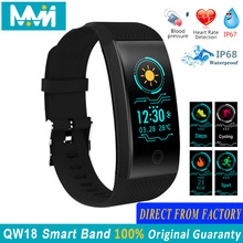 QW18 Smart Band Waterproof Blood Pressure Heart Rate Tracker Fitness wristband Intelligent Bluetooth 4.0 bracelet