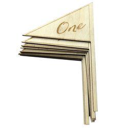 10 sztuk drewniane numery płyta wolnostojące DIY prezenty ślubne numery stołów zaopatrzenie firm w Bieżniki od Dom i ogród na