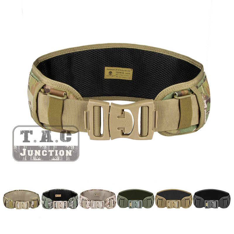 Emerson Tactical Belt Molle Padded Duty Belt Low Profile Airsoft Gear Military