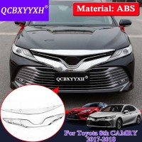 QCBXYYXH Car Styling ABS Chrome Front Grille Hood Engine Cover Trim For Toyota Camry 2017 2018 External Sequins Accessories