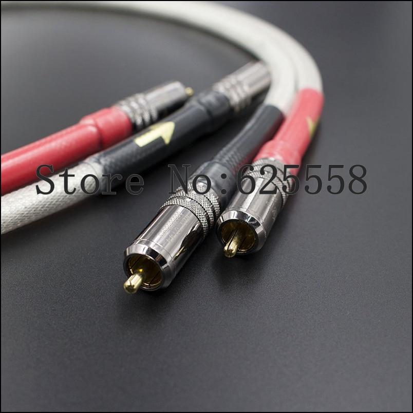 Pair Hifi Audio HIFI Silver Plated RCA  Interconnect  Cable pair viborg audio pure silver plated rca audio cable 1m rca interconnect audio cable
