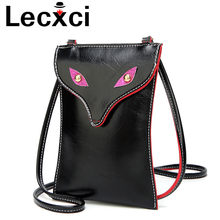 2018 Shoulder bags for women small Mobile Phone Bag Mini Buckle PU Leather Fox Eye Design Small crossbady Bag key Bag Wallet(China)