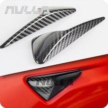 Seite Kamera Kotflügel Marker Schutz Deckt für Tesla modell 3 S X 2013 2019 Real Carbon Fiber Dekorative Zubehör