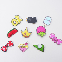 10 PC Cartoon Badges for Backpack Clothes Plastic Badge Kawaii Pin brooch Icons