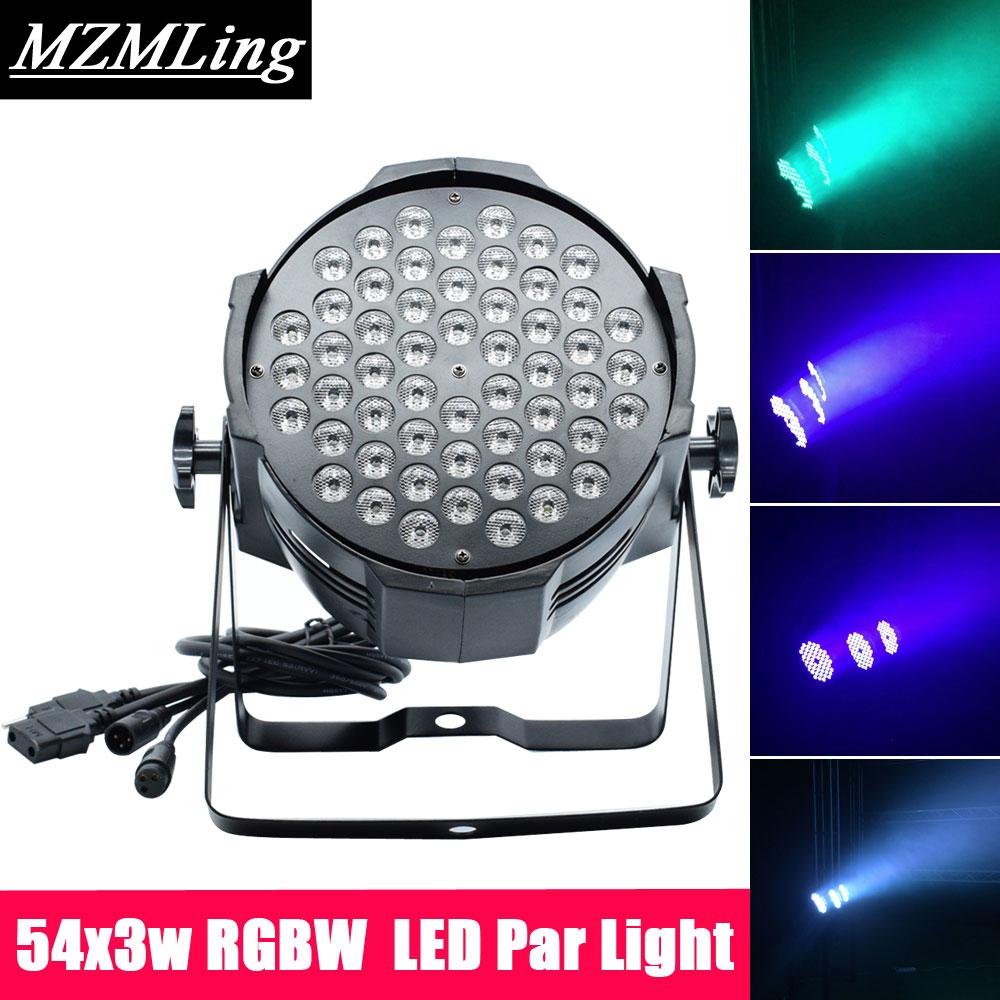 54x3w Led RGBW Monochromatic Par Light DMX512 Professional DJ /Bar /Party /Show /Stage Light LED Stage Machine led 3x5w spot light dmx512 effect light professional dj bar party show stage light led stage machine
