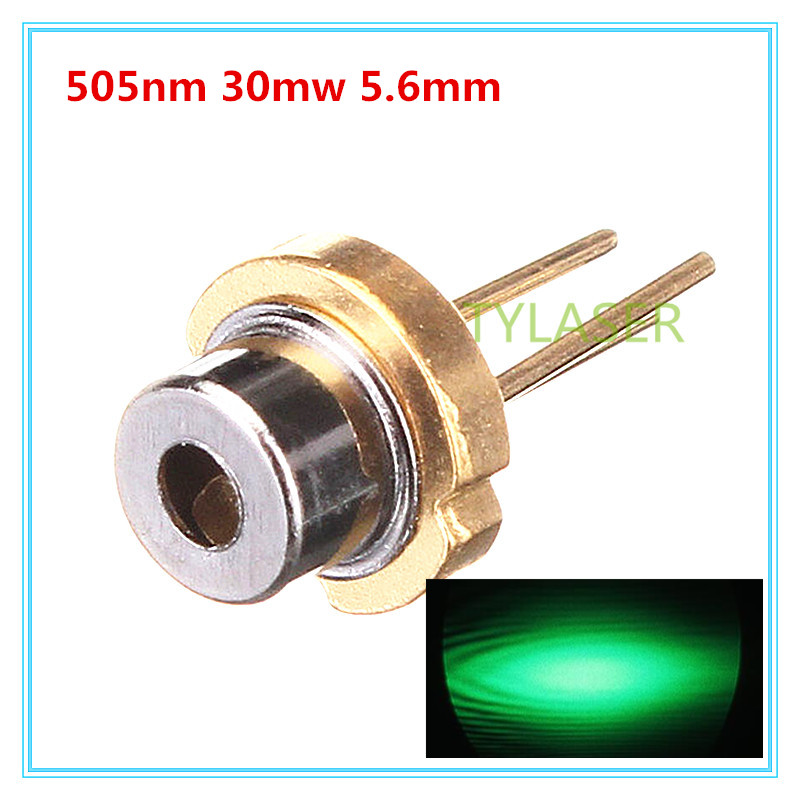 505nm Green 30mW D5.6mm Laser Diode S