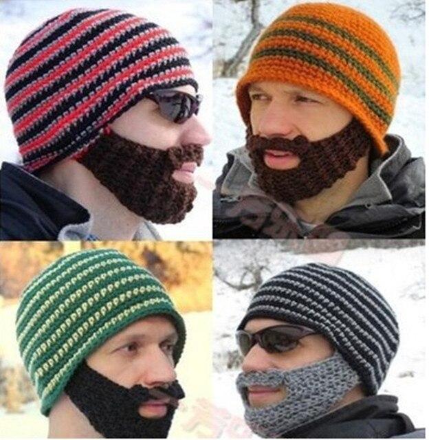 Nuevo 2014 hechos a mano de punto de ganchillo barba sombrero de ...