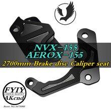 Calibrador de freno de aleación de aluminio modificado para motocicleta CNC para Yamaha aerox155 nvx155 84mm/40 mmCaliper, soporte de pinza de freno de asiento