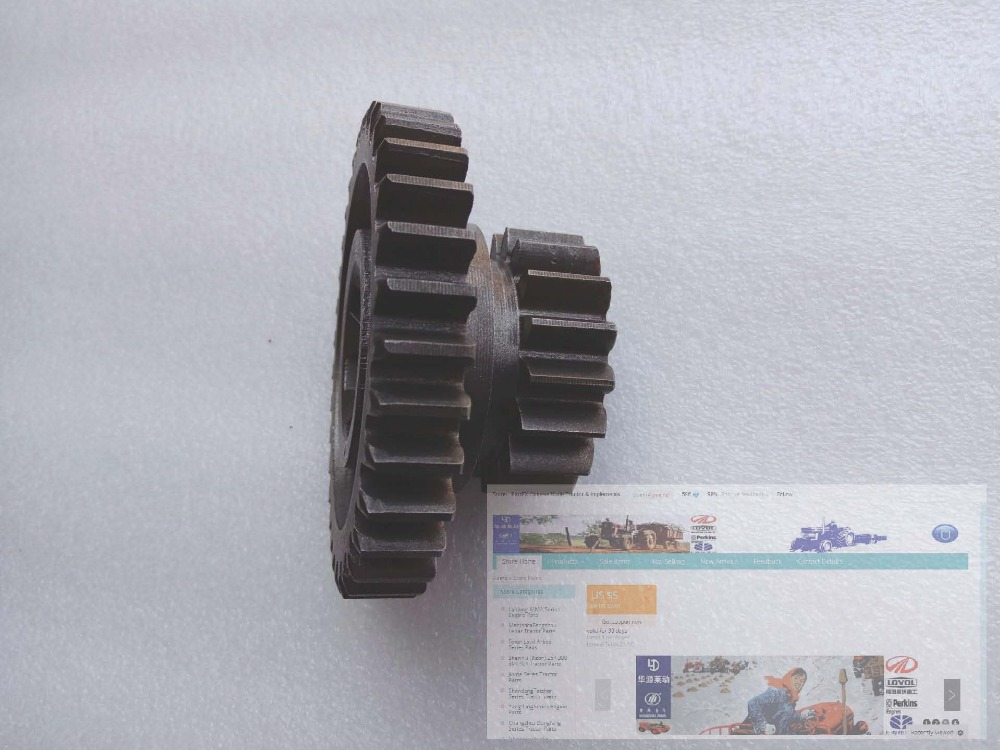 DFH180 tractor parts, the sliding driven gear, part number: 18.37.108A set of driven cambered angle gear