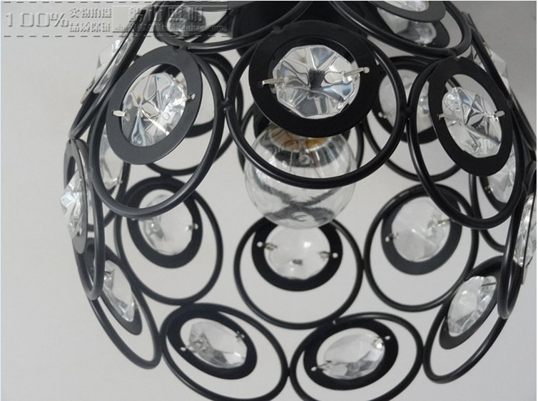 Luci per soggiorno a forma di gabbia industriale retro materiale