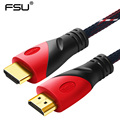 High Speed HDMI Cable Gold Plated Connection with Red, black and white mesh 1080P,0.5m,1m,1.5m,2m,3m,5m,8m,10m,15m