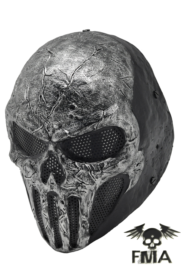 FMA Wire Mesh SKULL PUNISNER Gray Mask Helmet wargame gear fma wire mesh iron man 2 airsoft fiberglass mask