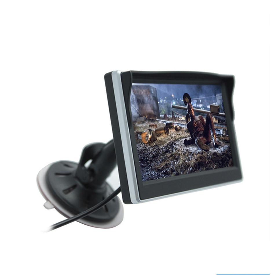 Prix pour 5 Pouce moniteur De Voiture TFT LCD Écran HD Numérique Couleur De Voiture arrière View Monitor Support VCD/DVD/GPS/Caméra
