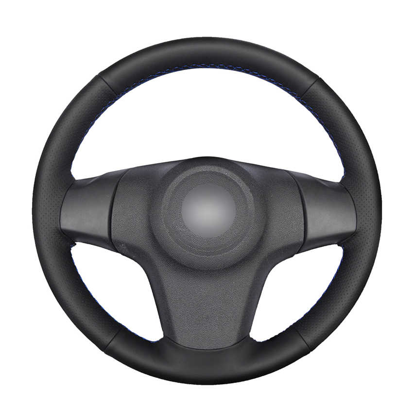 Hand-stitched Black PU Artificial Leather Car Steering Wheel Cover for Chevrolet Niva 2009-2017 (3-Spoke) Opel Corsa (D)