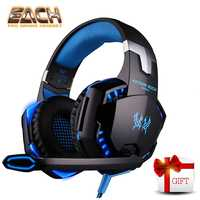 KOTION EACH G2000 Best Computer Stereo Gaming Headphones Deep Bass Game Headset Earphone With Mic LED Light For PS4 PC Gamer