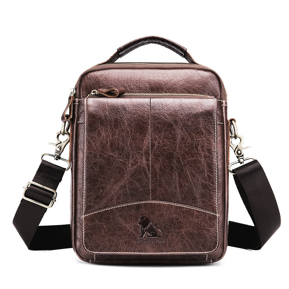 Brand New Genuine Leather 10' Casual Business Handbag Men's Crossbody Shoulder Bag Men Messenger Bags brand 100% genuine leather men messenger bag casual crossbody bag business men s handbag bags for gift shoulder bags men li 1747