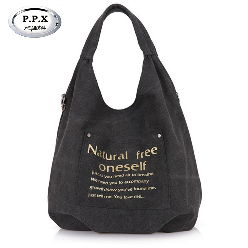 Ladies Handbags National Wind Canvas Shoulder Bags Large Black Shopping Bag Travel Crossbody Pack A492
