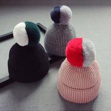 skullies beanies for kids fur ball cap winter hats children kids boys girls pompom skullies beanies for kids pompom hat pompom