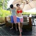 Nuevo 2016 Hombres de Los Cortocircuitos Cortocircuitos de la Playa de Verano Raya Estrella Muchos estilos Pareja Traje de Baño Desgaste Causal Chándal