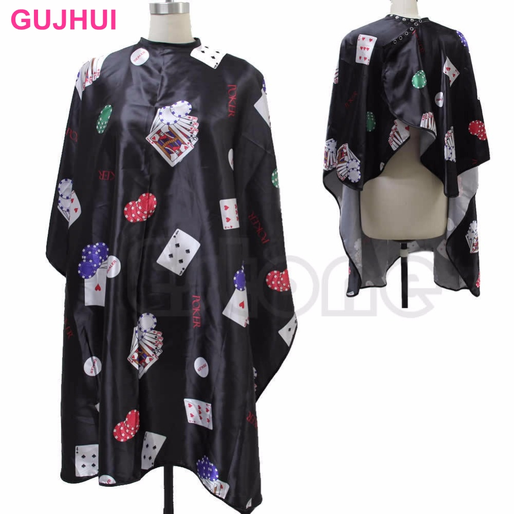 Pro Black Salon Barber Hairdressing Hairdresser Hair Cut Cape Gown Clothes Poker