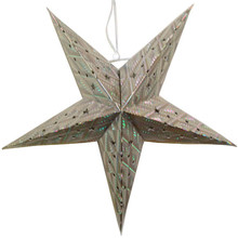 Hanging Lanterns Paper-Star Lamps Holiday-Decorations Wedding-Party Silver Creative 60cm