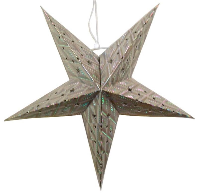 Silver Creative Paper Star Lanterns