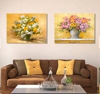 2 Stück Wandmalerei Blume Moderne Leinwand Gemälde Cuadros Dekoration Quadro Bild posteres e quadros 2017 Kein Rahmen