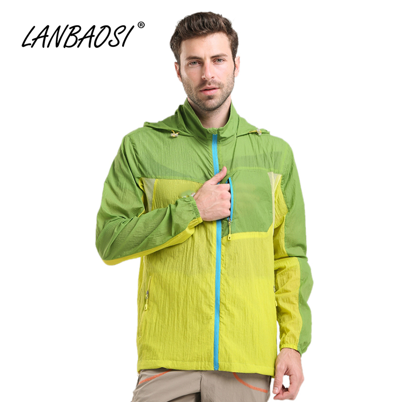 Lanbaosi ultraligero senderismo deportes al aire libre de los hombres chaquetas