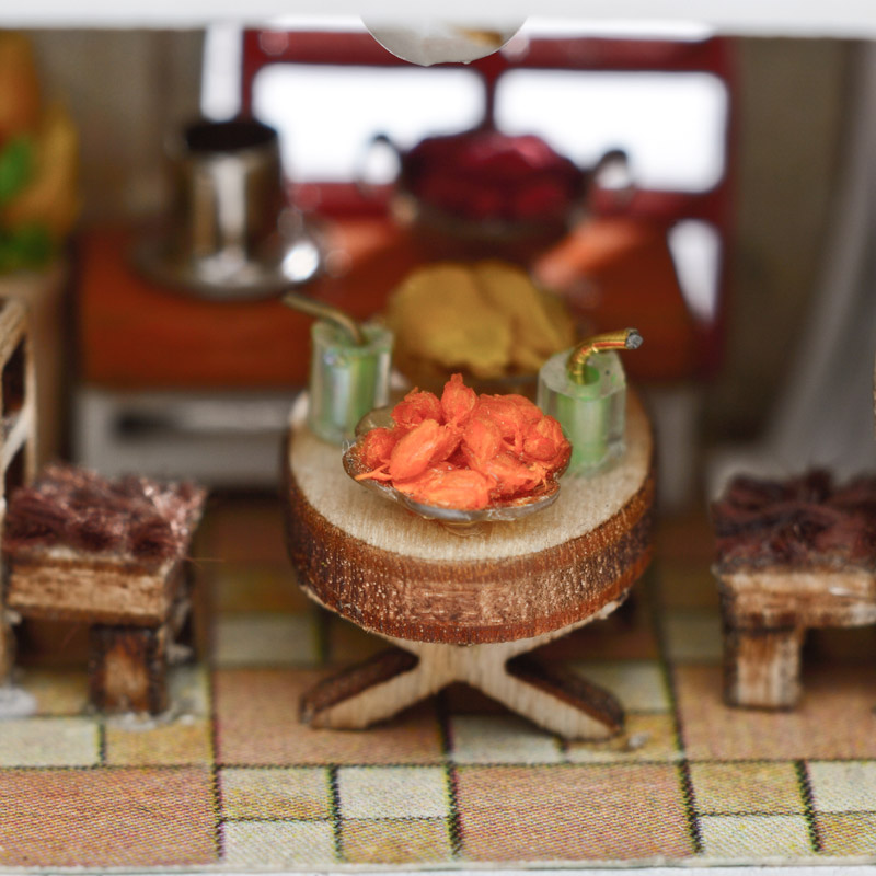 Exquisite DIY Dollhouse Miniature With 3D Furniture Glass Ball Hemp Rope Handmade Casa Gift Toys For Children G014 E in Doll Houses from Toys Hobbies