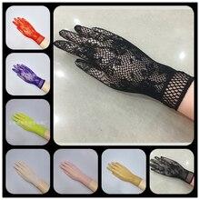 Sexy transparent lace elastic gloves bride sleeve gloves mesh liturgy gloves sexy gloves lace 610