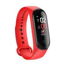 Premium New M4 Colorful Screen Blood Pressure Heart Rate Monitor Fitness Tracker Waterproof Wristband Smart Bracelet